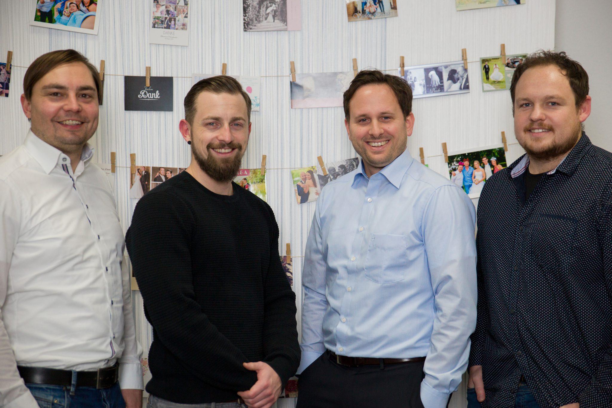 Die vier Gründer von Fabrik der Liebe