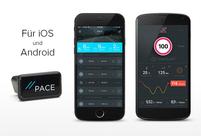 Der PACE Link und die PACE App (Bild: PACE)