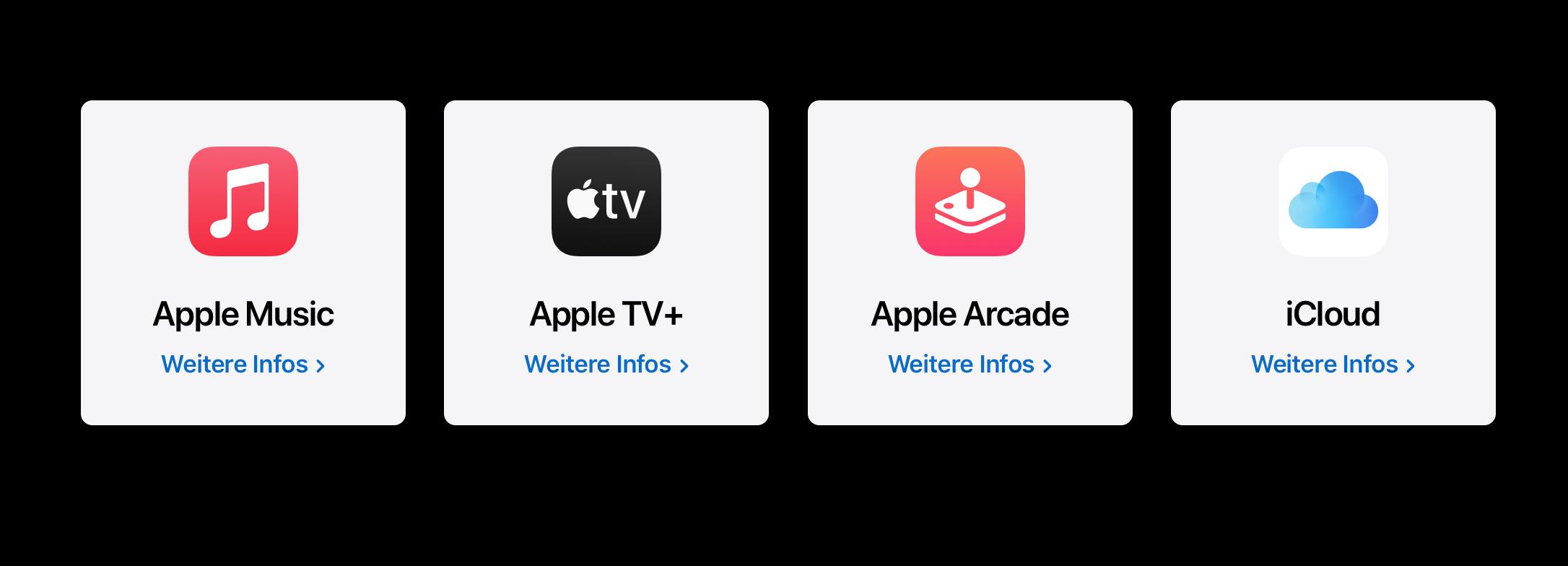 Apple One – Dienste